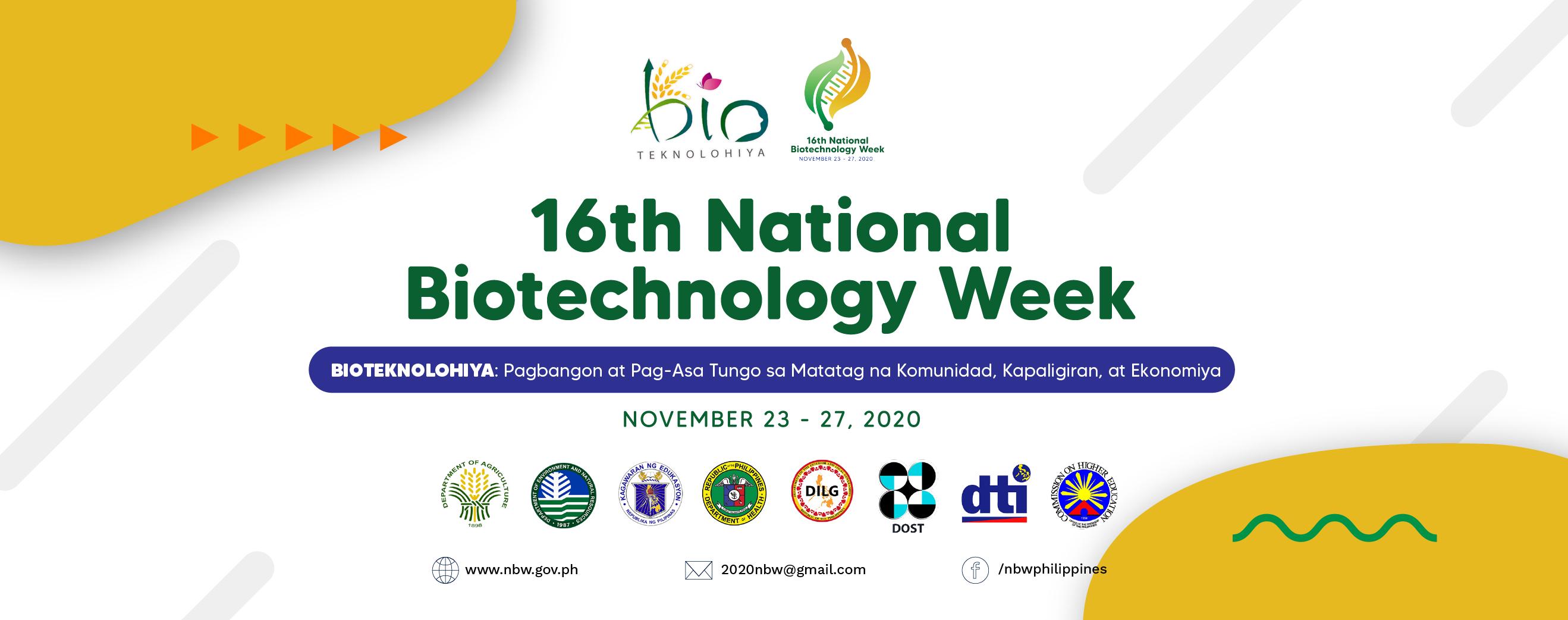 16th National Biotechnology Week